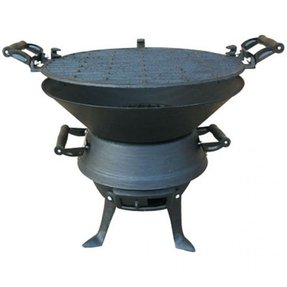 Details about new cast iron barbeque grill compact barrel camp