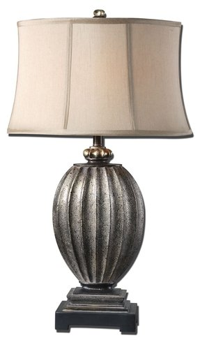"Diveria 30.5"" H Table Lamp with Oval Shade"