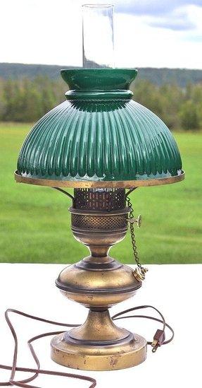 Vintage Brass Oil Lamp Foter