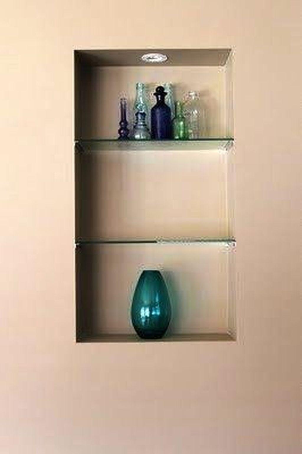 Incroyable Glass Wall Shelves For Living Room