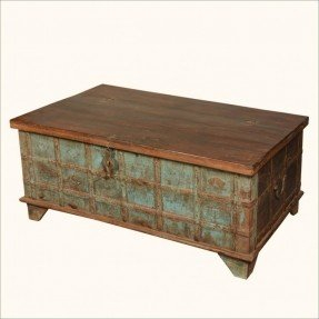 Home Captains Stash Reclaimed Wood Coffee Table Storage Chest