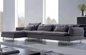 Looks comfy large sectional sofa couches in grey