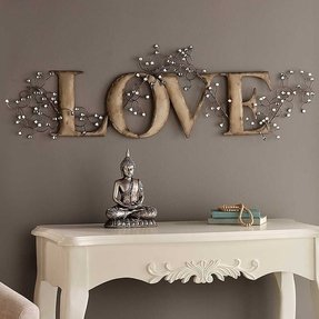Love Metal Wall Art - Foter