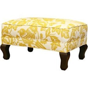 Songbird yellow ottoman arhaus furniture