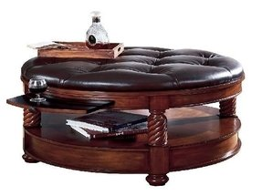 Leather Tufted Ottoman Coffee Table Foter