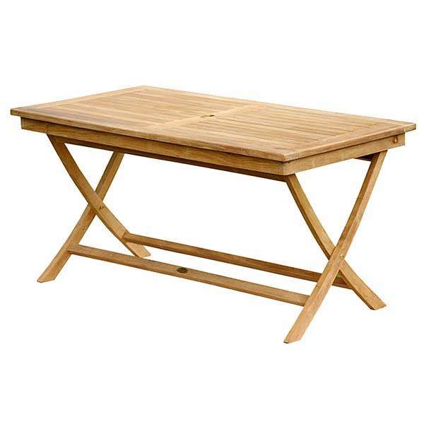 Teak Rectangular Folding Table 51