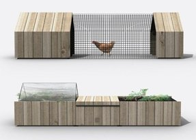 Urban chicken coop kit