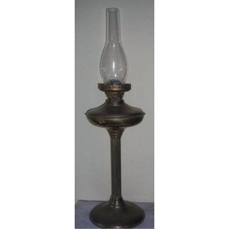 Vintage brass oil lamp 3