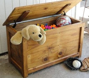 Vintage wooden toy box