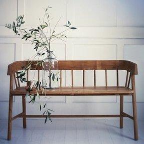 Wooden kitchen bench