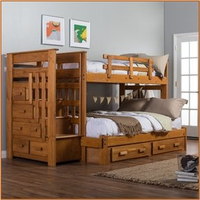 Bunk bed twin over full with stairs