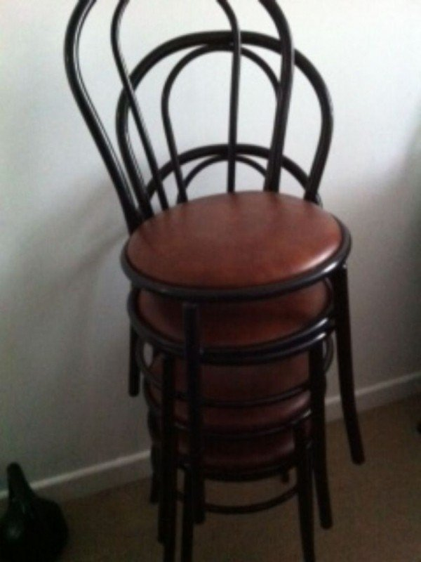 Chairs Stacking Chairs 20x Black French Style Cafe Chairs 1