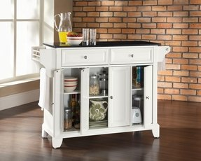 Crosley newport kitchen island with stainless steel top 2