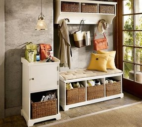 Entryway hall tree storage bench 1