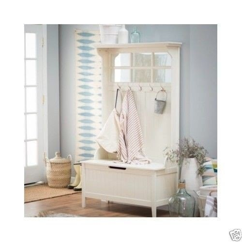Entryway Hall Tree Storage Bench 2