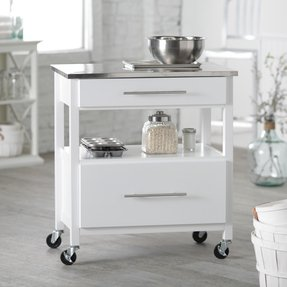 Kitchen island with stainless steel top 30