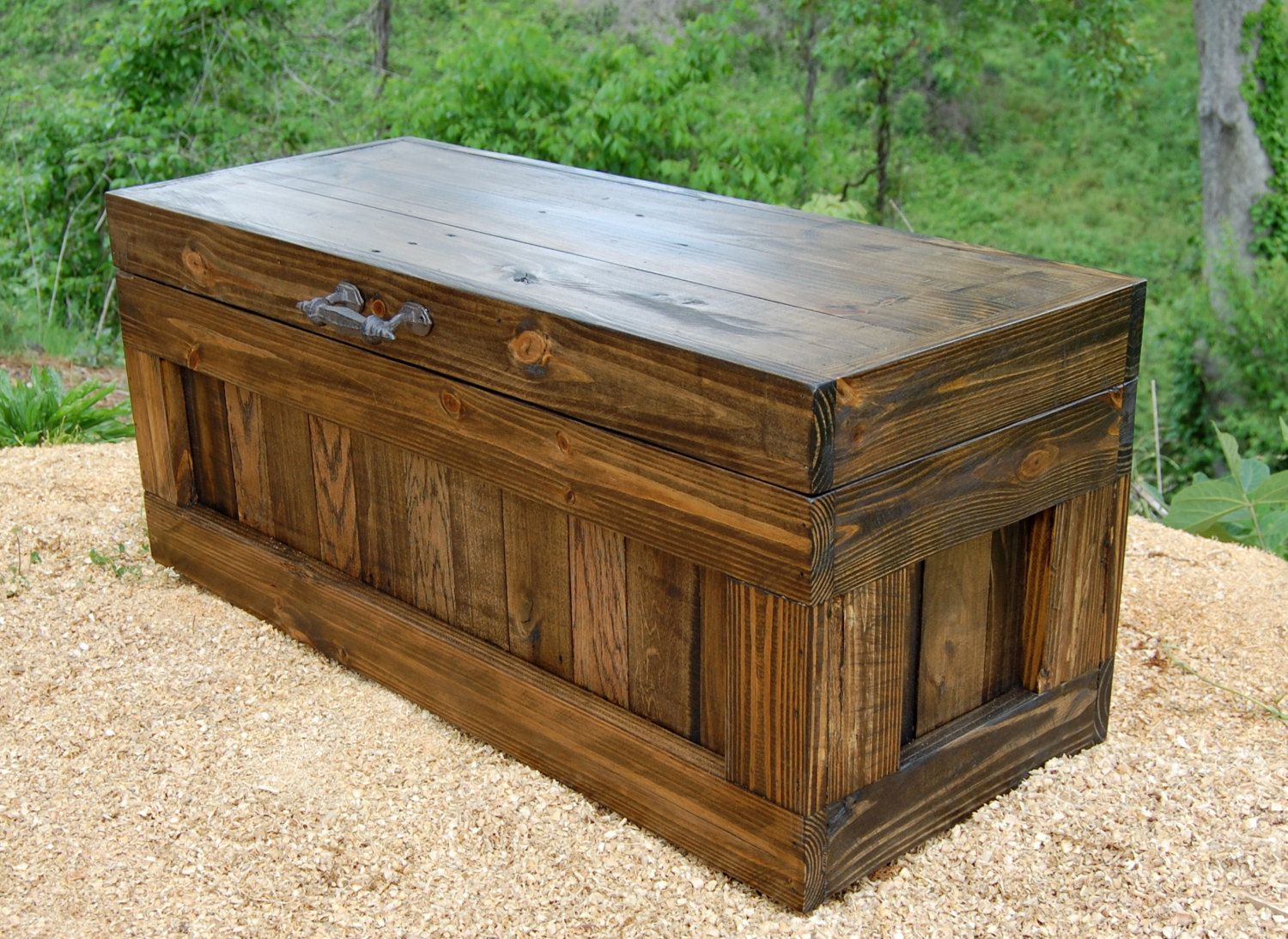 Large chest coffee table end of the bed