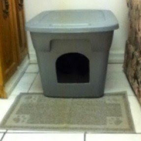 image covered cat litter. Moderna Flip Top Blue Enclosed Cat Litter Box Image Covered