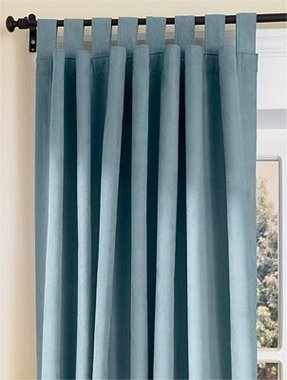Tab top thermal insulated curtains