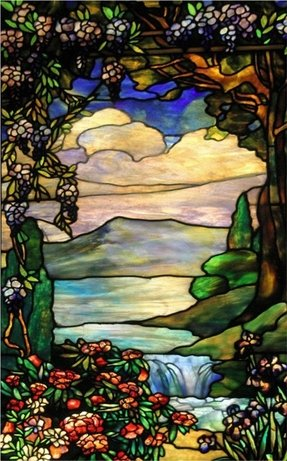 Tiffany window panel 2