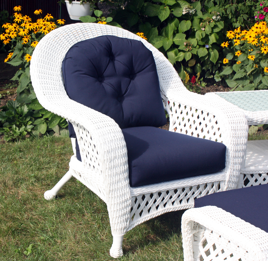 White Outdoor Wicker Chair Montauk Collection