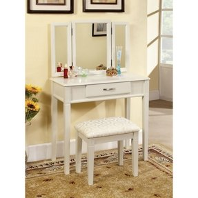 Outstanding White Vanity Desk With Mirror Ideas On Foter Ncnpc Chair Design For Home Ncnpcorg
