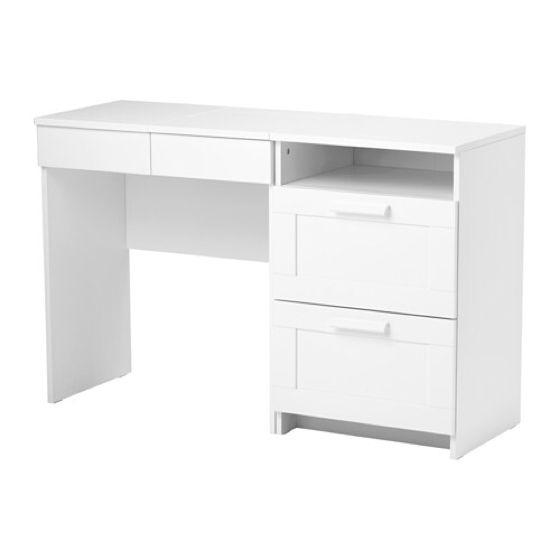 White Vanity Desk With Mirror 3