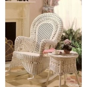 White wicker chairs 1