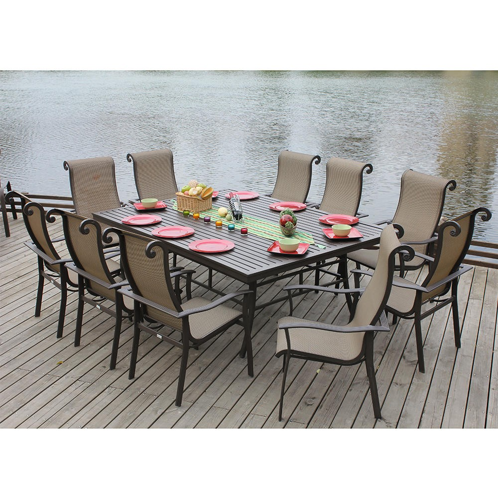 2802 The Angrove Collection Outdoor Dining Set Seats 10 Is