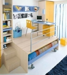 Bunk desk bed 6