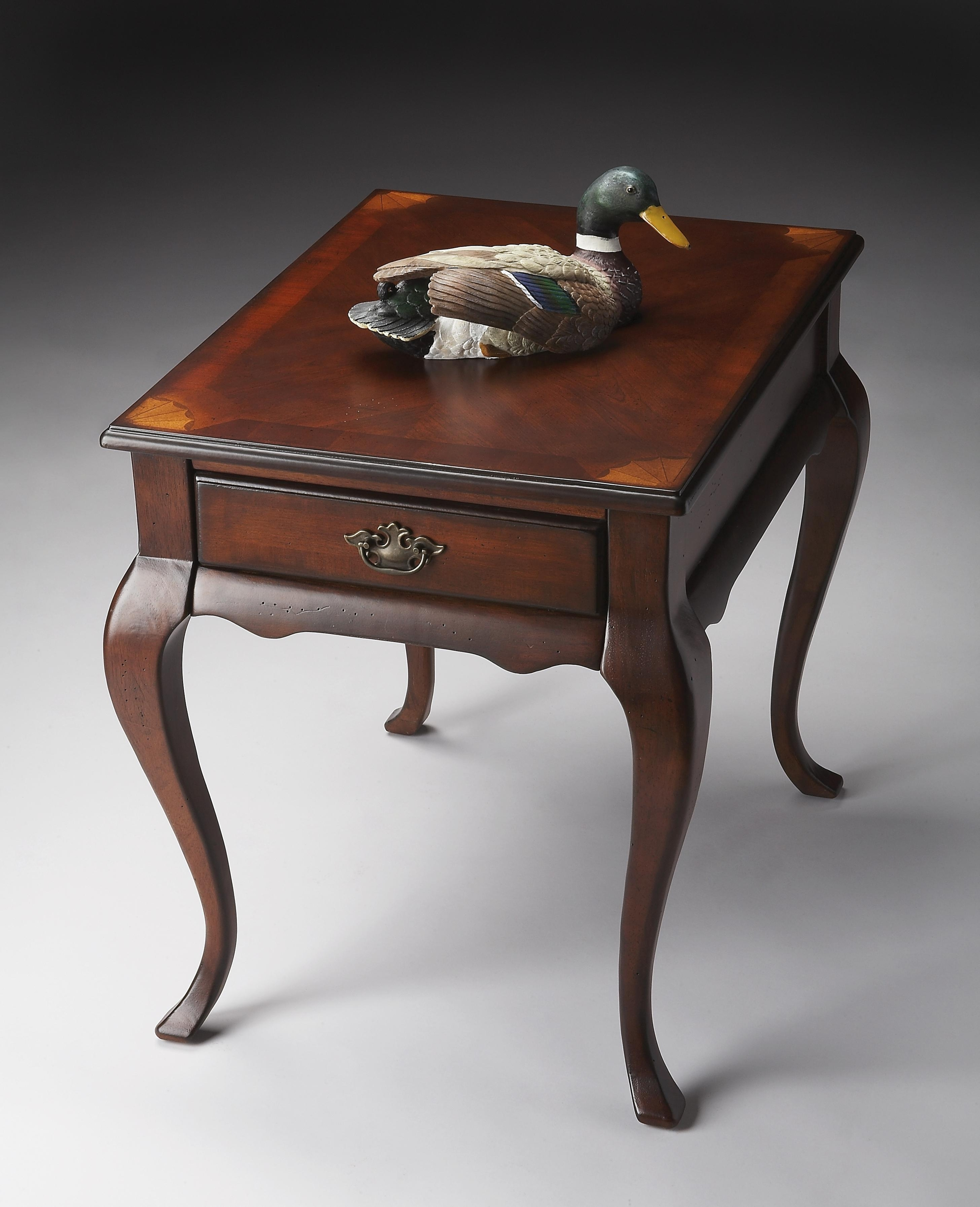 Butler Old World Wood End Table Accent Table At