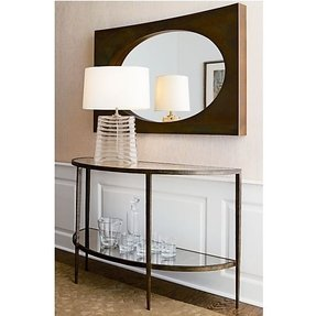 Clairemont demilune console table 1