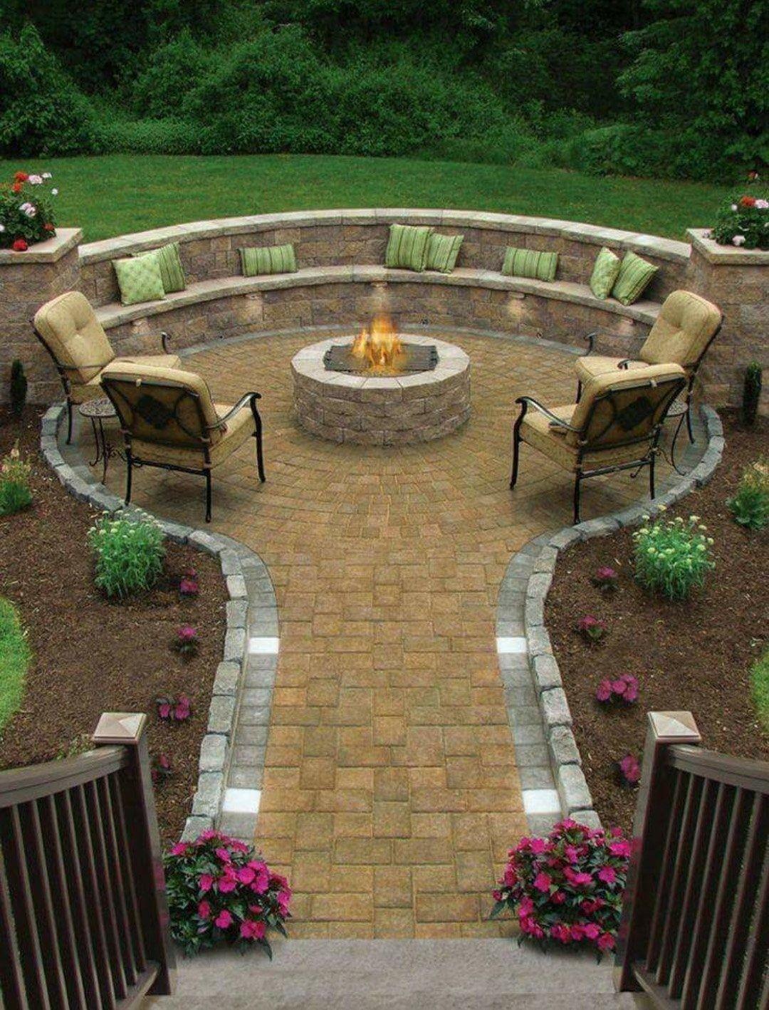 Gentil Concrete Patio Benches 2