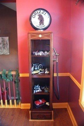 Custom Made Gas Pump Curio Cabinet