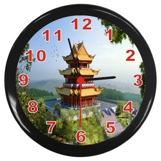 Asian style wall clock