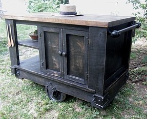 Rustic Kitchen Islands And Carts - Ideas on Foter