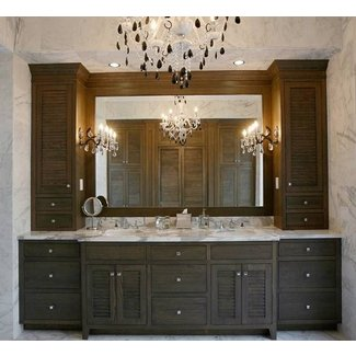Dual Sink Vanities With Wall Towers