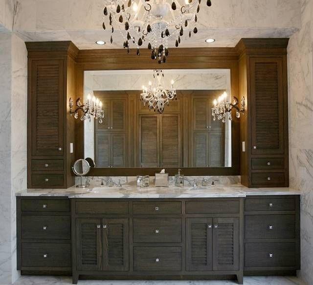 Gentil Dual Sink Vanities With Wall Towers
