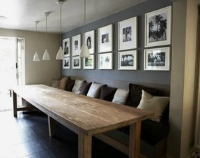 Farm table with bench and chairs 4