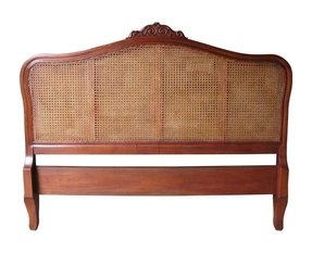 French Rattan Headboard