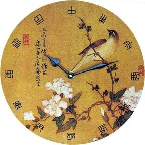 Home asian decor oriental wall clock 1