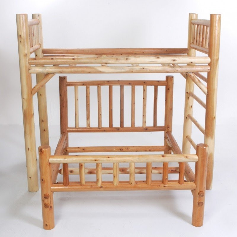 Moon Valley Rustic Nicholas Twin Over Full L Shaped Bunk Bed With Built In Ladder
