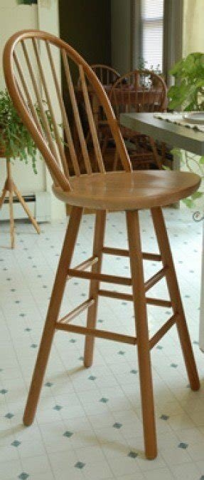 Oak Windsor Back Bar Stool Ideas On Foter