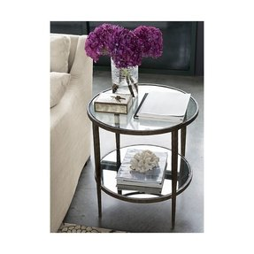 Round metal and glass coffee table 1