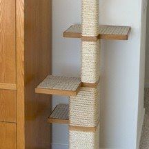 Tall cat trees with sisal post and perches sisal cattree