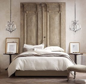 Tall padded headboard