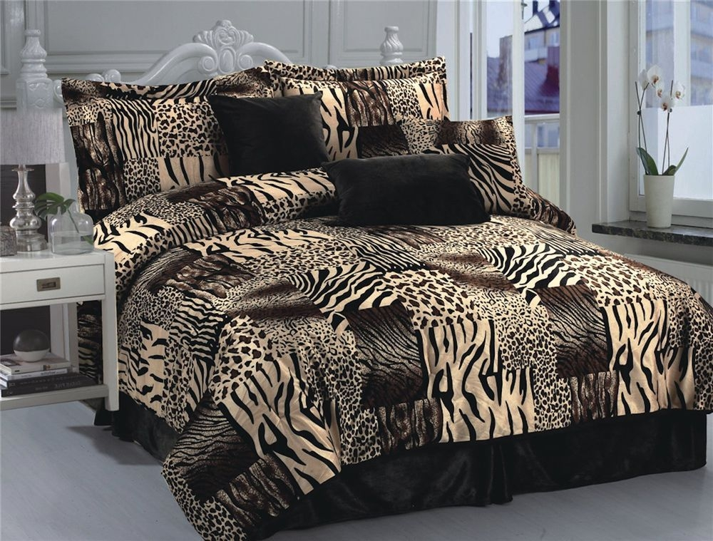 The Efficient And Very Stylish Animal Print Comforter Set Is A Perfect  Combination Of Interesting Details And Excellent Materials.