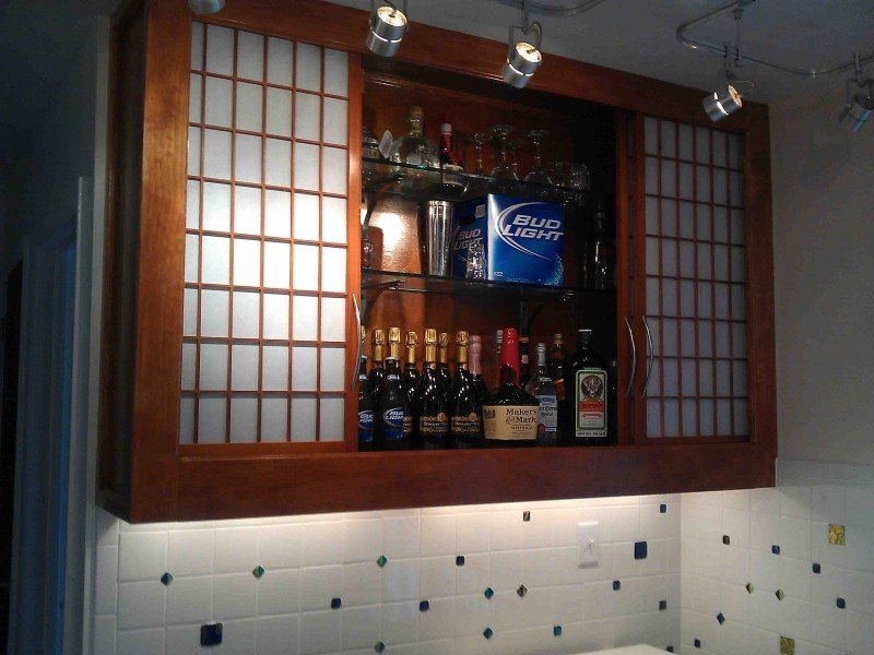 Wall Bar Cabinet Designs