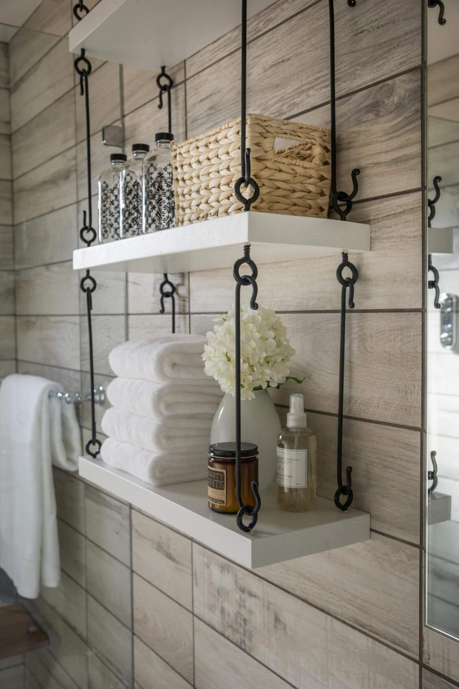 Charmant Wall Mounted Bathroom Shelf