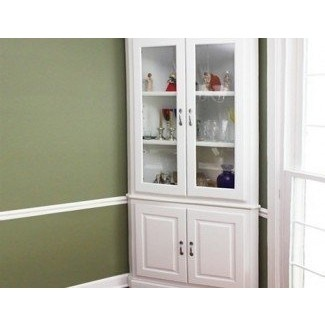This attractive ex&le of white curio cabinet - fits into every corner of our four corners. Ideal in the dining room or living room - to expose your ... & White Curio Corner Cabinet - Foter